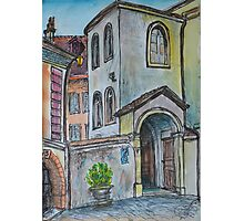 Watercolor Sketch - Genève, Rue Tabazan 7A. 2013 Photographic Print