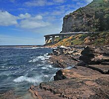 Sea Cliff Bridge From The Rocks by Terry Everson