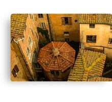 Siena roofs Canvas Print