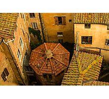 Siena roofs Photographic Print