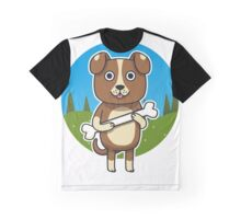 Dog with Bone Graphic T-Shirt