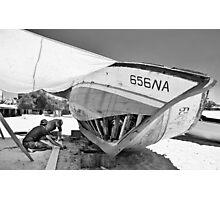Boat Repair - Tunisa Photographic Print