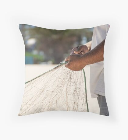 Fixing the nets Throw Pillow