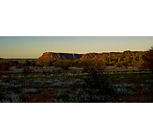 Sunset on the Kings Canyon ranges Photographic Print