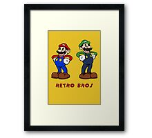 Retro Bros Framed Print