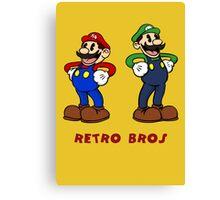 Retro Bros Canvas Print