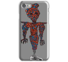 orange flying robot art print desing comic funny monster iPhone Case/Skin