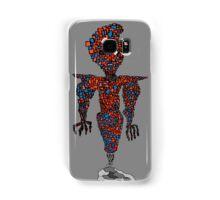 orange flying robot art print desing comic funny monster Samsung Galaxy Case/Skin