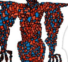 orange flying robot art print desing comic funny monster Sticker