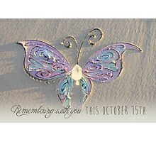 October 15th Butterfly - Girl Photographic Print