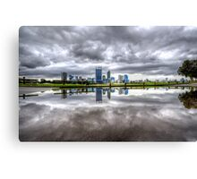 Perth in a Puddle Canvas Print