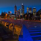 Melbourne Art Precinct Skyline Victoria by PhotoJoJo