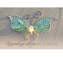 October 15th Butterfly  Photographic Print