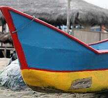 Red Blue and Yellow Fishing Boat by rhamm