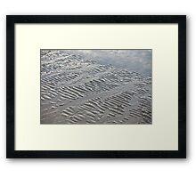 Silver Trails Framed Print