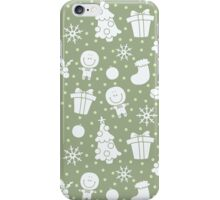 soft christmas pattern iPhone Case/Skin