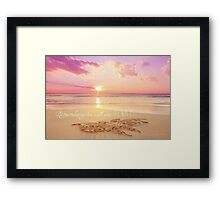 Remembering Her With You Always Framed Print