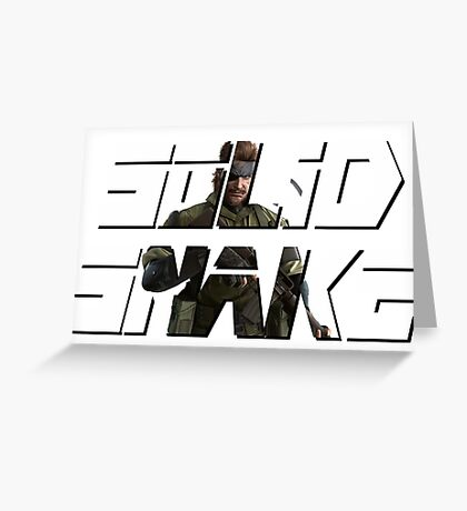 Solid Snake , metal gear solid , ART Greeting Card