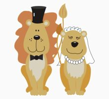 Lion and Lionness Wedding Couple Bride and Groom by JessDesigns