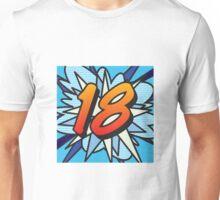 Comic Book 18 blue Unisex T-Shirt