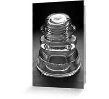 Hemingray Number 45 Glass Insulator Greeting Card