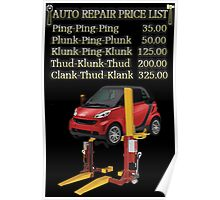 ☝ ☞ $ AUTO REPAIR PRICE LIST PICTURE/CARD $☝ ☞ Poster