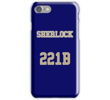 Sherlock 221B Jersey iPhone Case/Skin