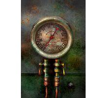 Steampunk - Train - Brake cylinder pressure  Photographic Print