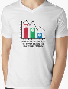 You're Never Wrong, Statistics Humor Mens V-Neck T-Shirt