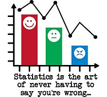 You're Never Wrong, Statistics Humor Photographic Print