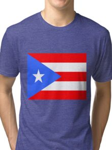 Flag of Puerto Rico Tri-blend T-Shirt