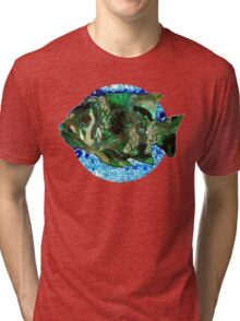 fish in Blue Water Tri-blend T-Shirt