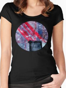 Striking matchstick Women's Fitted Scoop T-Shirt