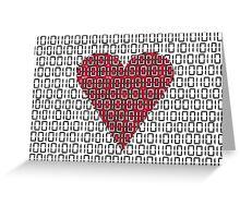 digital love Greeting Card