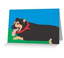 Dog Resting Greeting Card