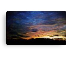 A Painted Morning Canvas Print