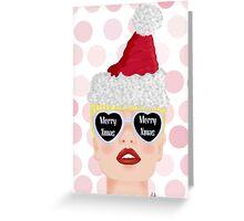 Christmas girl Greeting Card