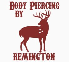 Deer Hunter BODY PIERCING BY REMINGTON BLACK Tee Shotgun Rifle Hunting by jekonu