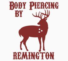 Deer Hunter BODY PIERCING BY REMINGTON BLACK Tee Shotgun Rifle Hunting by jekonu