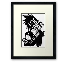 Cloud Strife ex-SOLDIER Framed Print