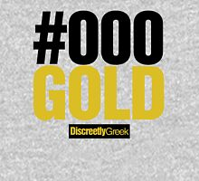 Discreetly Greek - #000 Black and Gold Hoodie
