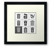 Basket an icon Framed Print