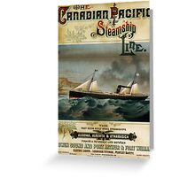 Vintage poster - Canadian Pacific Greeting Card