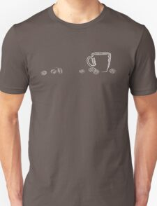 coffee cup chalk T-Shirt