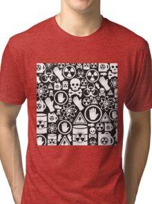 Danger a background Tri-blend T-Shirt