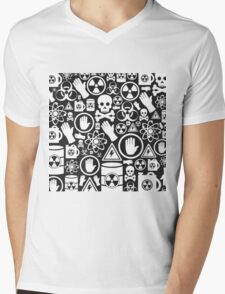 Danger a background Mens V-Neck T-Shirt