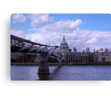 Across Thames Canvas Print