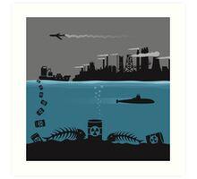 Ecology pollution Art Print