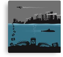 Ecology pollution Canvas Print