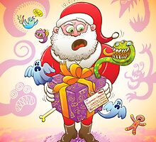 A Christmas Gift from Halloween Creepies to Santa by Zoo-co